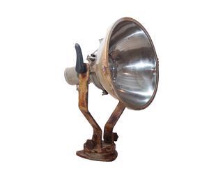 Lampe à poser Fer, Rouille et argenté – Ø42