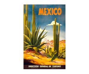 Impression sur toile Vintage travel Mexico - 60*90