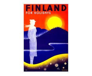 Impression sur toile Vintage travel Finland - 60*90
