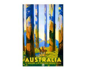 Impression sur toile Vintage travel Australia - 60*90