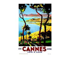 Impression sur toile Vintage travel Cannes - 60*90