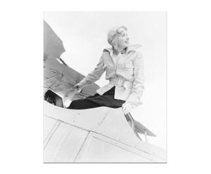 Tableau Pilote, papier photo sur bois - 40*50