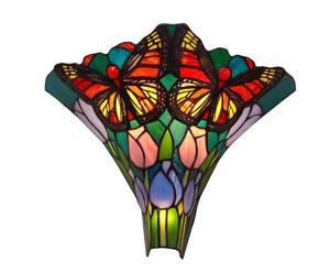Applique murale Papillon Verre, Multicolore - H30