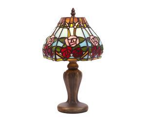 Lampe à poser Belle Rouge Verre et Zinc, Multicolore - H34