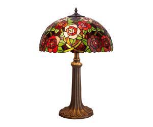 Lampe à poser New York Verre et Zinc, Vert et rouge - H48