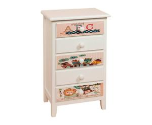 Commode pin, Blanc - 70*47