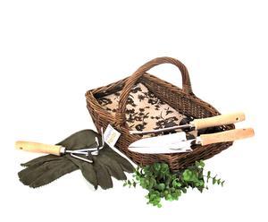 Panier de jardinage, Osier et épinette - Naturel