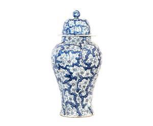 Vase décoratif Céramique, Bleu - H83