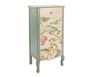 Commode Pin, Bleu et multicolore - H111