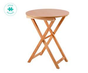 TABLE ENFANT RUSTIQUE HÊTRE, NATUREL - Ø50