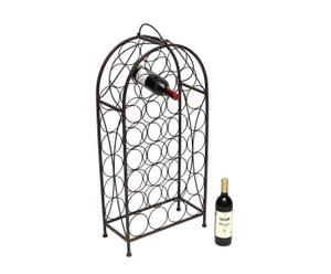 Porte-bouteille Fer, Noir - H88