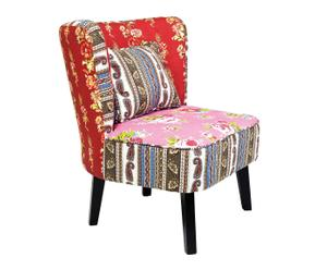 Chaise Pin et Coton, Multicolore - H79
