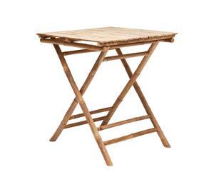 Table de jardin Bois de Bambou, Marron - H75