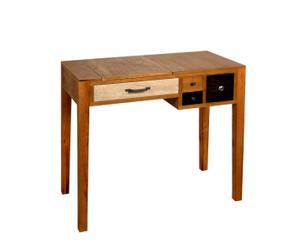 Console noyer, nuances de marron - L82