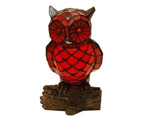 Lampe décorative TIFFANY cristal tiffany, rouge et noir - H31