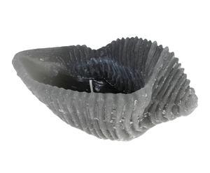 Bougie décorative CARACOLA, gris - 15 heures