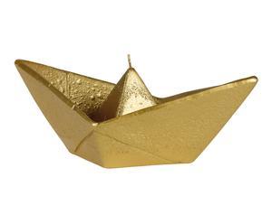 Bougie décorative BOAT, doré - 15 heures