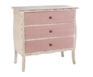 Commode, rose et gris decapé - L80