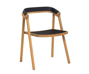 Chaise coen chêne massif, noir