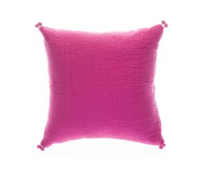 Coussin khol coton, fuchsia - 45*45