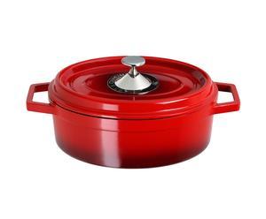 Cocotte ovale fonte, rouge - 3.6L
