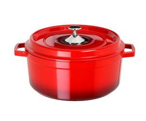Cocotte ronde fonte, rouge - 2.4L