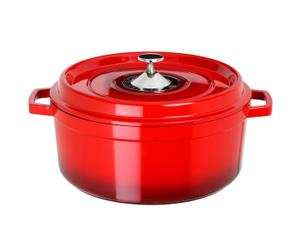 Cocotte ronde fonte, rouge - 4.2L