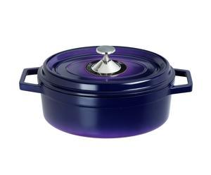 Cocotte ovale fonte, bleu - 3.6L