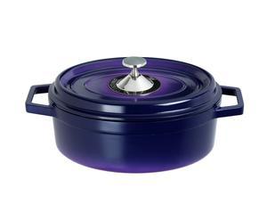 Cocotte ovale fonte, bleu - 6.4L