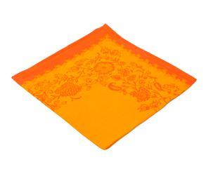 6 SERVIETTES DE TABLE jaipur coton, orange - 47*47