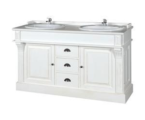 Meuble de salle de bain, pin – L150