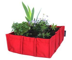 Jardinière carrée, Rouge - 10 L