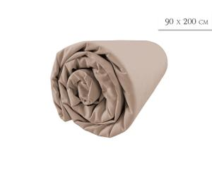 Drap housse, taupe  - 90*200