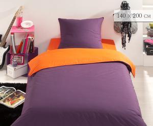 Housse de couette, prune et orange - 140*200