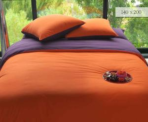 Housse de couette, Orange et Mauve - 140*200