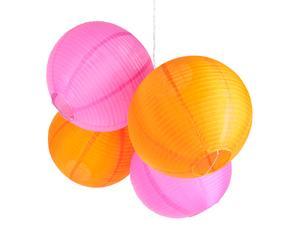 Lampions Japonais, rose et orange