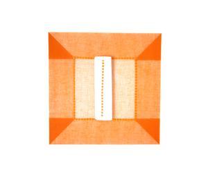 Set de table et serviette assortie, Orange
