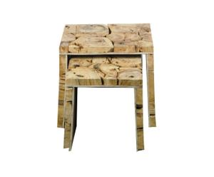 Tables gigognes Bois, Naturel - H36