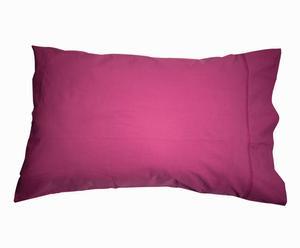Taie d'oreiller percale ajourée, prune - 50*70