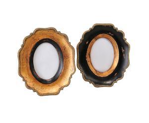 2 Cadres ovales, résine - L9