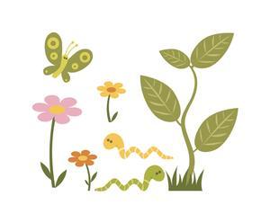Fleurs et papillons - 48*61