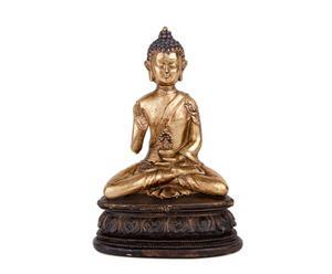 Bouddha assis, résine