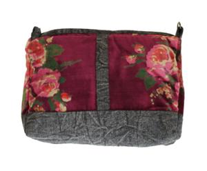 Trousse de toilette Rosy, velours - Bordeaux