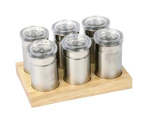 6 pots à épices, inox – L17