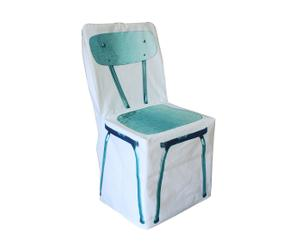Housse de chaise Formica, coton - turquoise