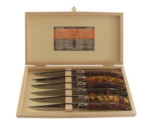 Set de 6 Couteaux LAGUIOLE, Ecailles