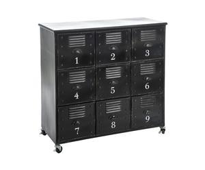Commode 9 tiroirs, fer - L95