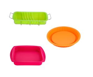 3 moules arlequin, silicone