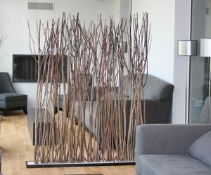 Paravent branches de tilleul - H160