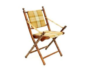 Chaise pliable St Andrews, Teck - Naturel et jaune